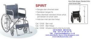 Spesifikasi Kursi Roda Spirit