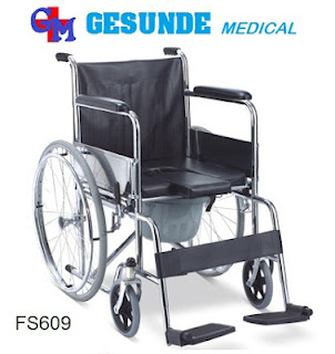 Kursi Roda GEA FS609 - Commode Wheel Chair